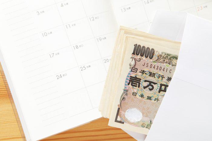 カレンダーと解約金